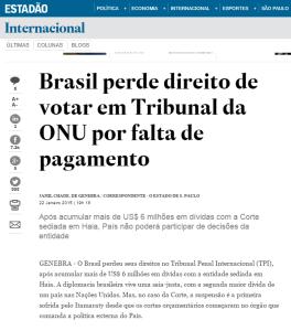 Brasil perde direito
